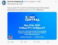 世嘉5月28日举办《索尼克》特别直播 公布新企划