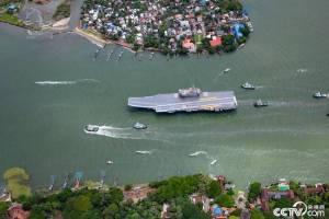印度首艘国产航母开始海试