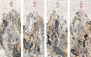 嶙峋见妩媚,墨彩呈华滋——当代细笔山水画派代表、著名画家杨文德的山水世界
