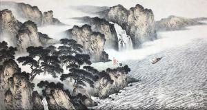 融合成就最美的风景——品味著名画家马骏笔下山与水的融合、静和动的搭配