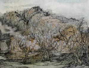赏清秀峻茂,绘奇异景致——著名青年画家刘明以写生描绘五莲之春