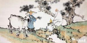 形略神出 简逸清雅——著名画家卢洪刚笔下的老子