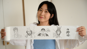 Chinese artist turns toilet paper into canvas