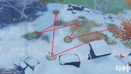 原神雪山五个灯柱同怎么同时点亮?龙脊雪山大宝箱机关位置破解顺序