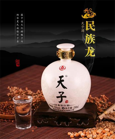 五粮液股份高端文化小酒,价格6980元52度天子酒民族龙