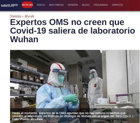拉美多国媒体:中国-世卫联合专家组对新冠病毒作出科学客观论断