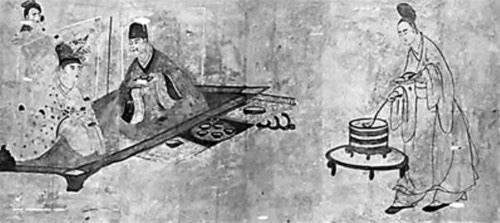 东汉壁画《夫妻宴饮图》