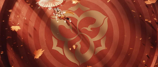△ 长安赛年中出现的以宝相花纹为灵感的图纹设计