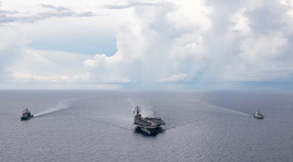 这就走了?美军航母即将离开南海 临走不忘挑事