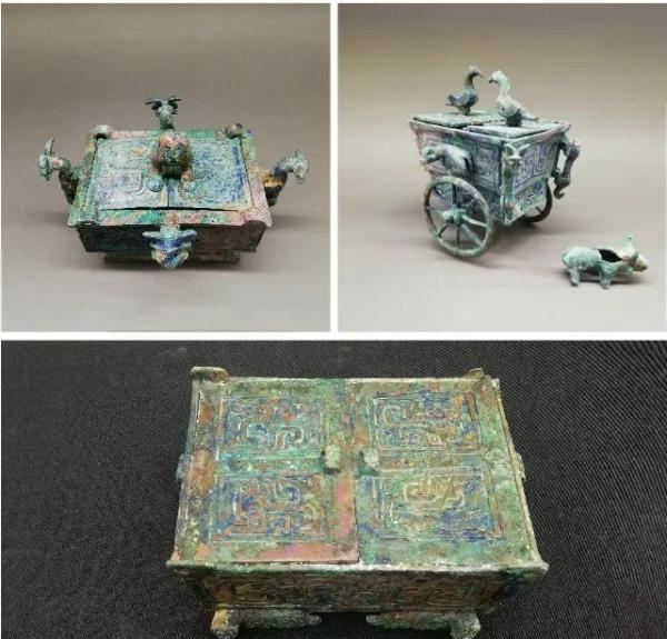 山西省考古研究院等对垣曲北白鹅贵族墓地出土的微型铜盒