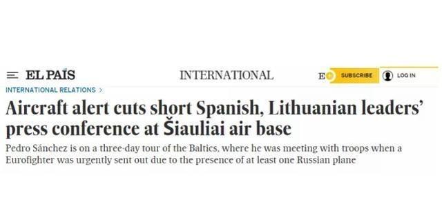 西班牙国家报报道截图