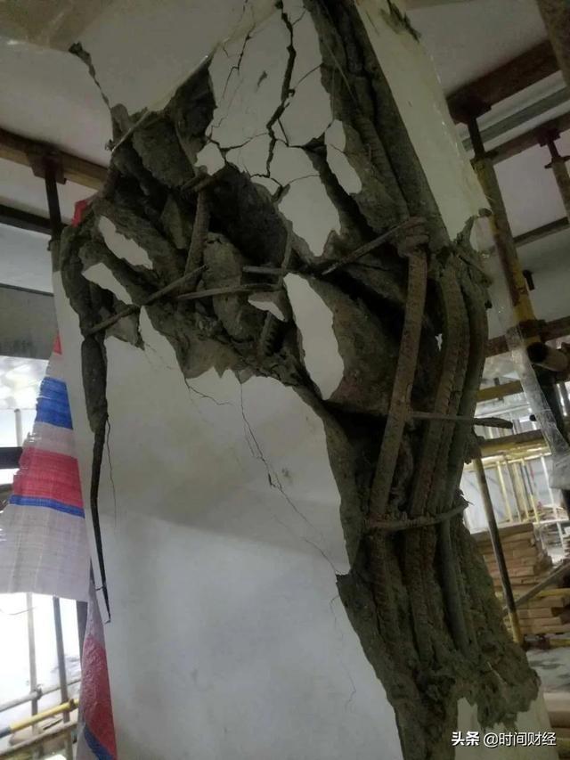 南昌鸿海万科天空之城车库柱体开裂,完全恢复基本无望