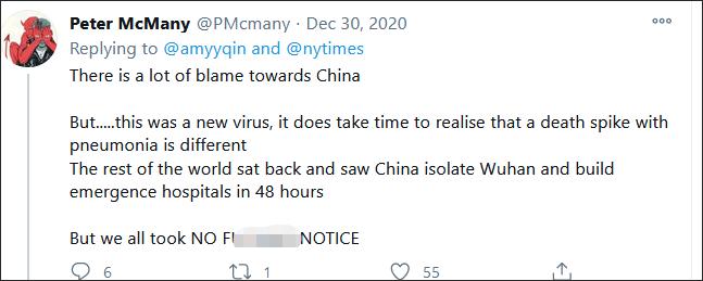 """美媒抹黑中国抗疫 网友调侃:怪中国没""""封锁""""美国"""