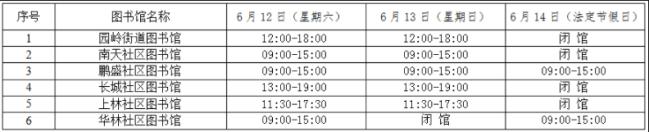 深圳福田区公共图书馆2021年端午期间开放安排时间表一览