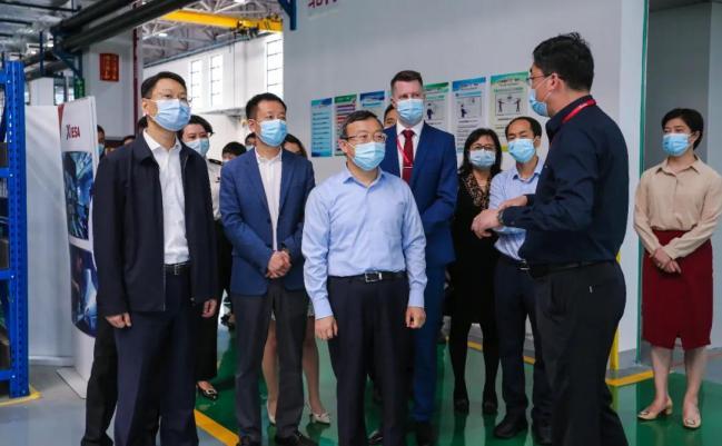 商务部副部长王受文一行调研空港新城