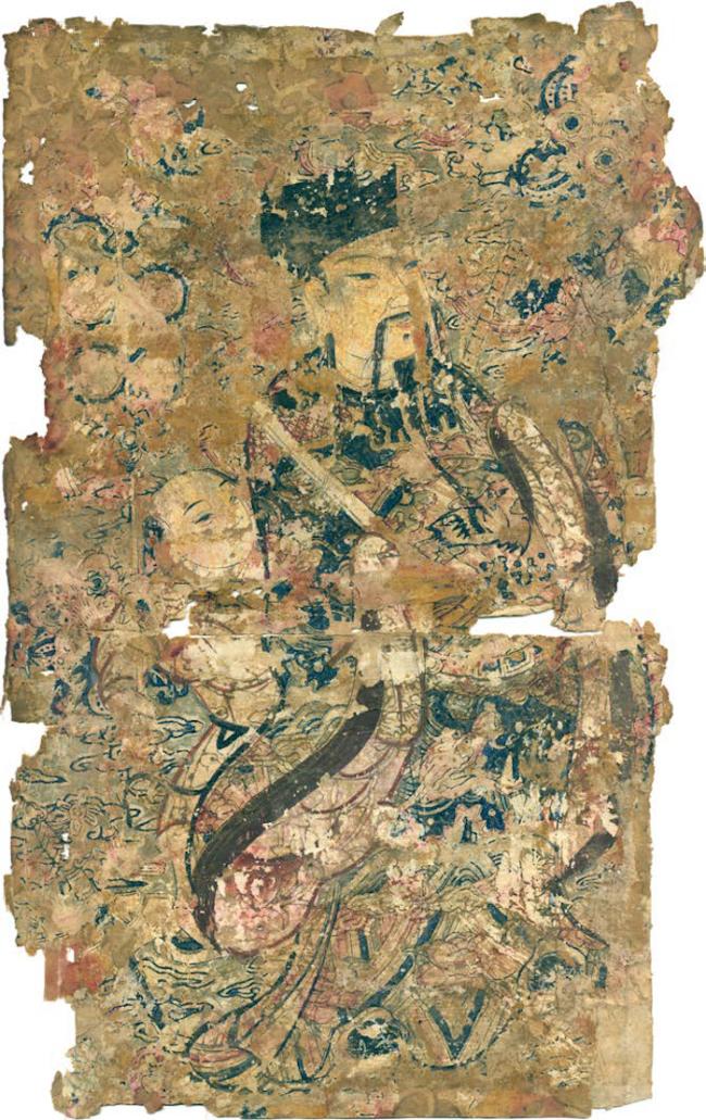 仙官门神 清代/门画/版印笔绘/各纵51厘米·横28.5厘米/天津杨柳青