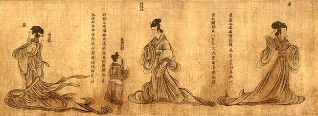 东晋 顾恺之《列女仁智图》(宋摹本)故宫博物院藏