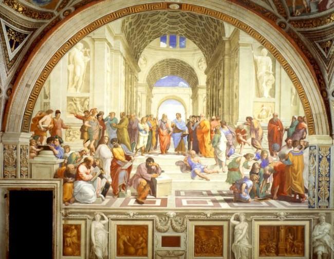 《雅典学院》 拉斐尔 1510~1511年 现藏于梵蒂冈博物馆