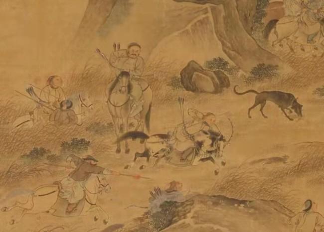 清 俞龄《围猎图轴》局部 北京故宫博物院藏