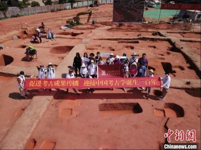 广州市黄埔区榄园岭遗址考古发掘现场。广州市文物考古研究院 供图