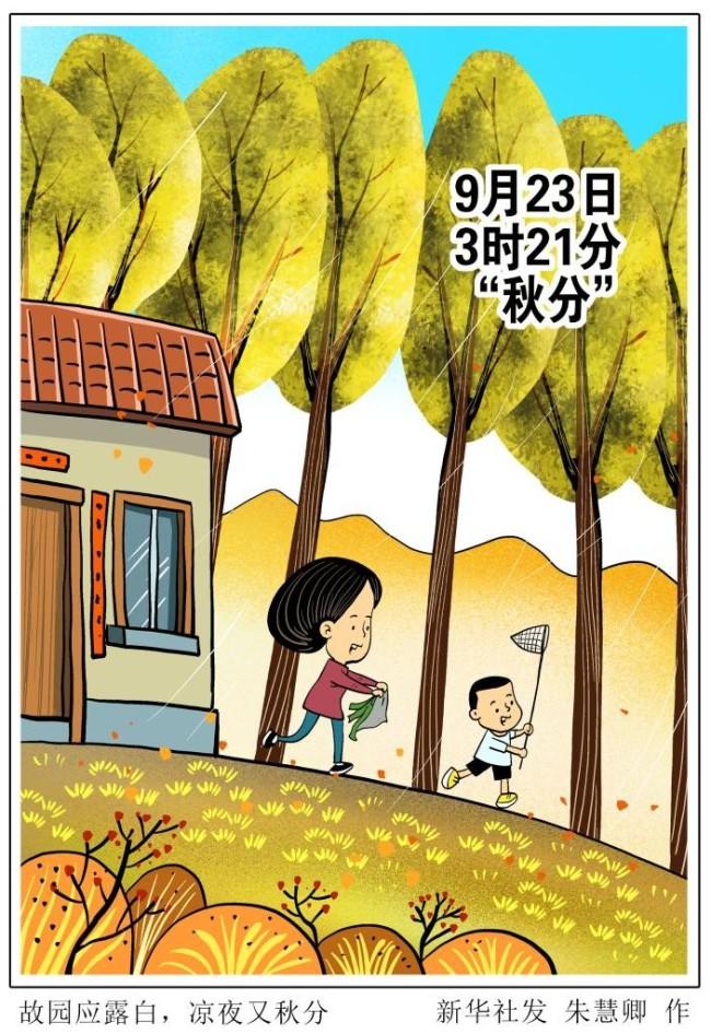 """""""秋分"""":桂蕊伴秋色,寒暑喜均平"""