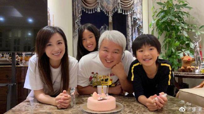 张庭为老公林瑞阳庆61岁生日 男方此前被人嫌丑