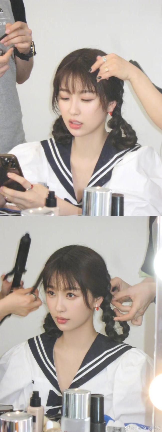 """25岁""""作精""""虞书欣穿水手服 过于太甜美!"""