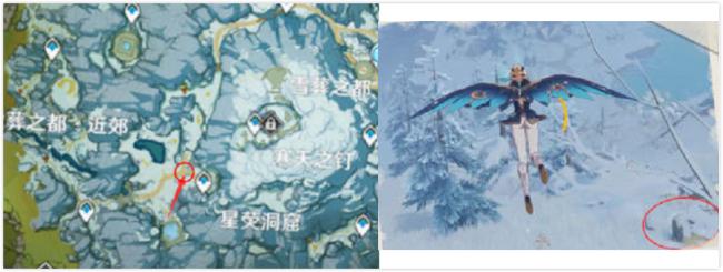 原神雪山石碑第一个第二个位置地图位置 绯红玉髓在哪里?