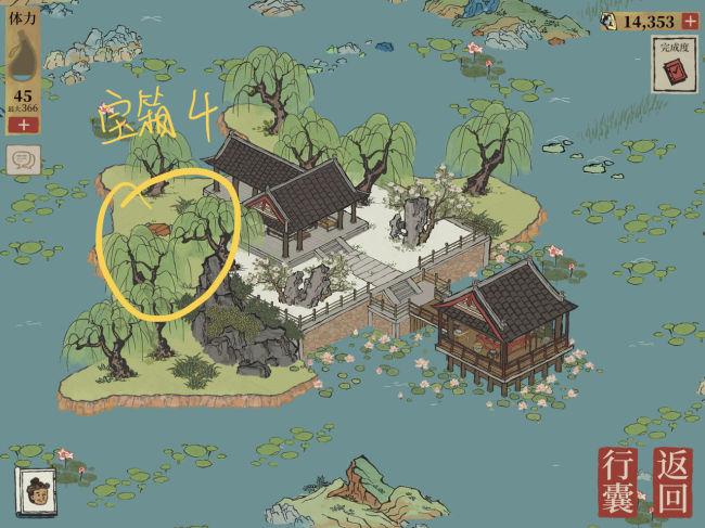 江南百景图松江探险钥匙宝箱位置一览