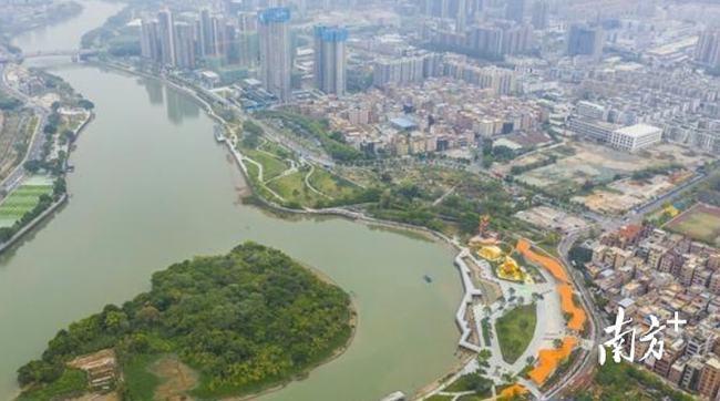 东莞三江六岸滨水岸线示范段一期对外开放 环境整治实现一湾碧水流