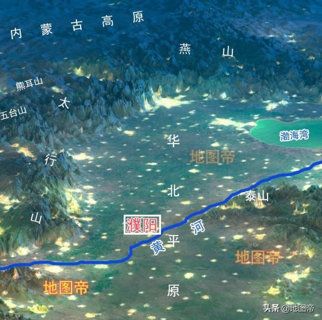"""河南省濮阳市,为何有一条""""功夫腿""""踹向山东?"""