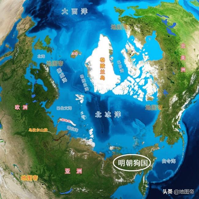 明朝地图亚洲东北部有个狗国,真实存在吗?