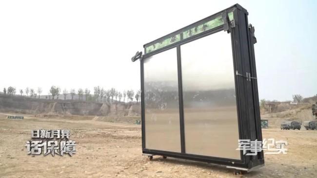 新型野战折叠营房亮相野外驻训点