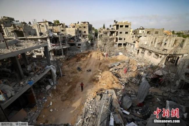 巴以冲突致加沙地区数千房屋被毁 多方承诺重建