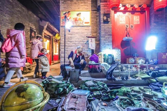 大柳树夜市来王府井啦,到深夜市集感受老北京