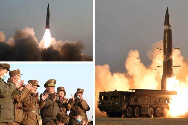 朝鲜进行新型战术导弹试射  实现600公里目标精确打击
