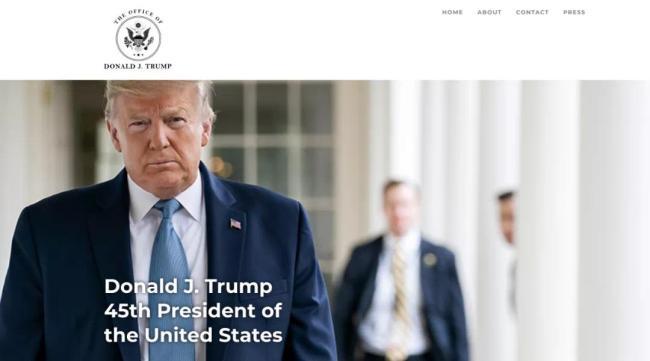 特朗普开通个人官网,不忘黑中国