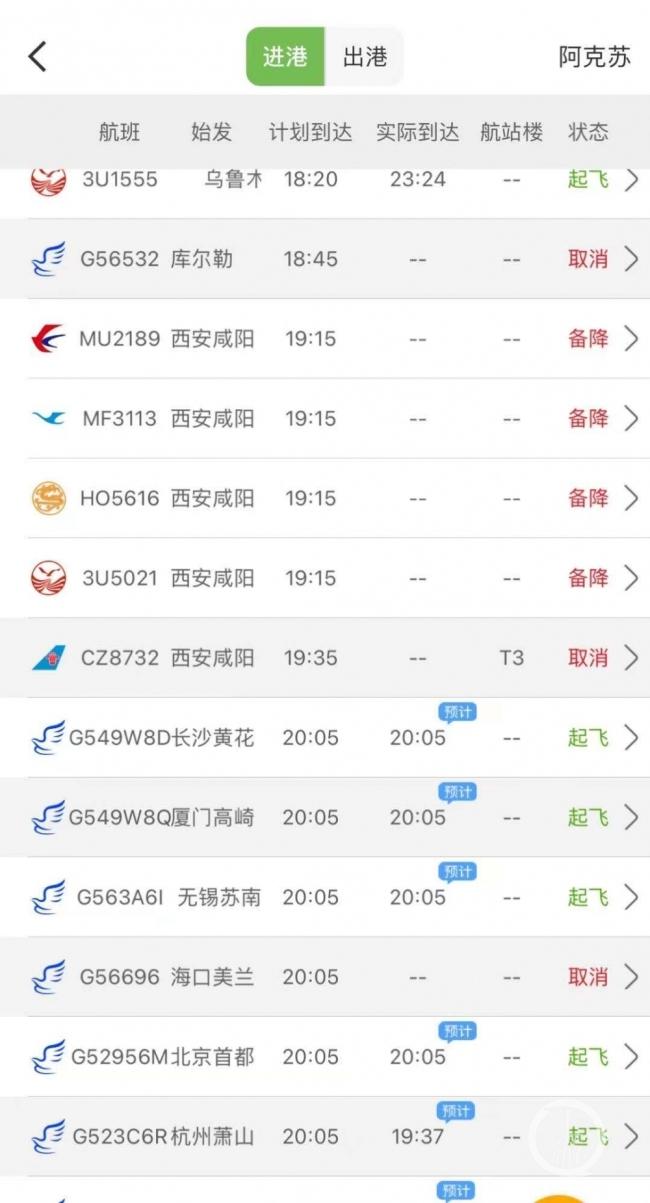 华夏航空一航班落地新疆阿克苏机场后冲出跑道