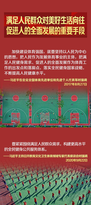 长图丨新时代体育的新内涵,习近平这样说