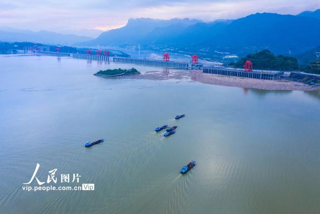 湖北宜昌:三峡坝前清漂忙【3】
