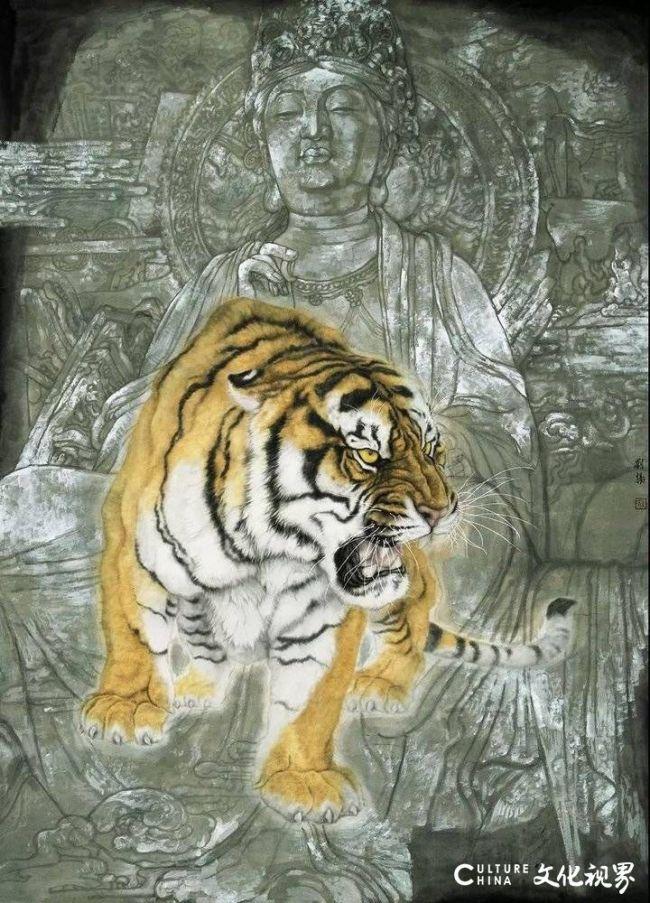 生动传神  充满情趣——青年画家刘扬突破传统虎画模式的成功探索