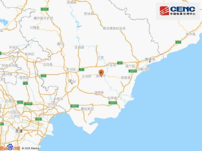 河北唐山市滦州市发生4.3级地震,震源深度9千米