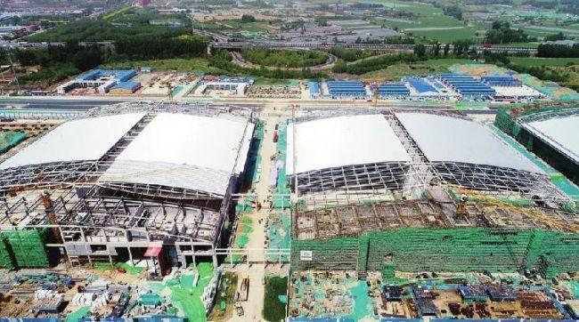 """绿地国博城会展中心在济南新旧动能转换起步区""""初现雄姿"""""""