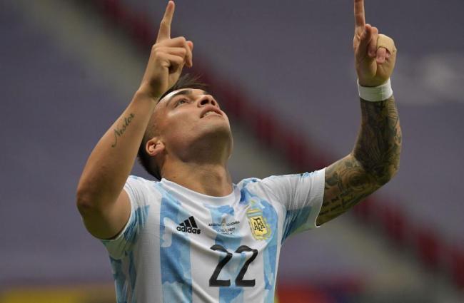 [图]美洲杯-劳塔罗进球门神3扑点 阿根廷进决赛