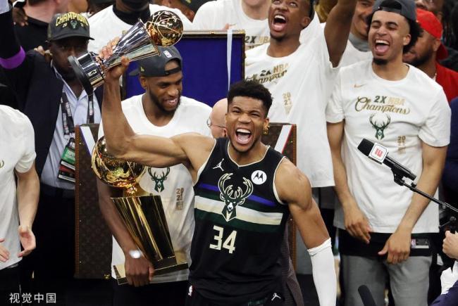 [图]雄鹿再夺NBA总冠军 字母哥获总决赛MVP