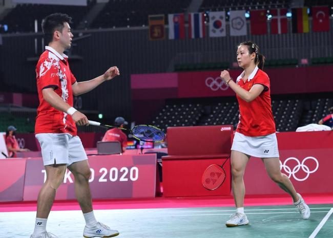 会师!中国羽毛球队提前锁定混双金银牌