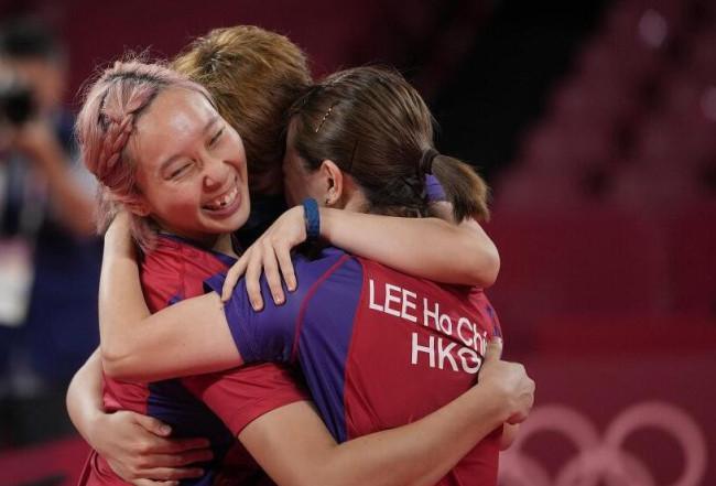 乒乓球女子团体-中国香港3-1逆转德国收获铜牌