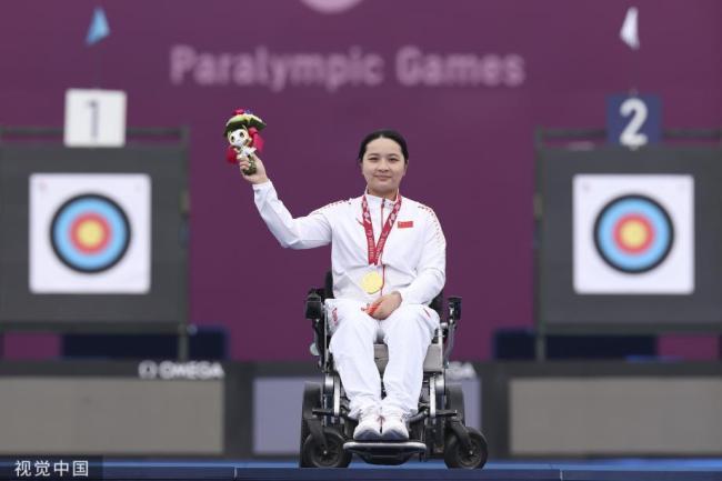 [图]残奥射箭女子W1级陈敏仪夺金 收获个人第二金