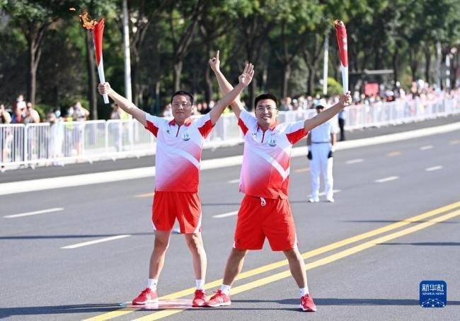 十四运会和残特奥会火炬传递活动在西安落幕