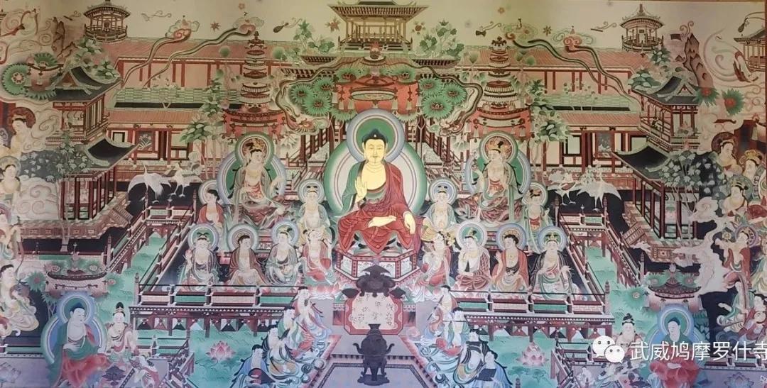 武威鸠摩罗什寺大型敦煌壁画顺利竣工